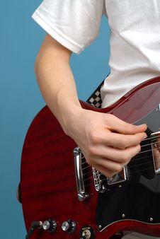 Free Guitarist Detail Stock Photo - 4025370