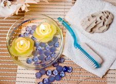 Free Spa Candles Royalty Free Stock Images - 4027359