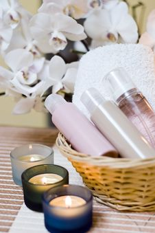 Spa Cosmetics Composition Royalty Free Stock Photo