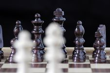 Chess Pieces, King And Queen Stock Photography