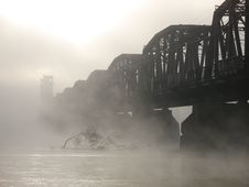 Free Bridge In The Mist Stock Images - 4029034