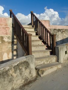 Free Colonial Stairs In La Cabaña Stock Image - 4029611
