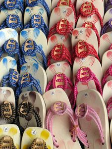 Free Patterns Of Sandals Stock Image - 4029731