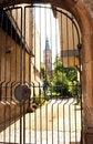 Free Church Viewed Thru Gate Royalty Free Stock Photos - 4032358