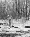 Free Winter Scene Ontario Canada Royalty Free Stock Photos - 4038328