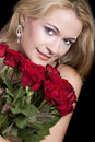 Free Blond Smelling Roses Stock Image - 4039471