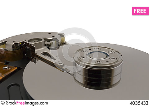 Free Hard Disk Drive On White Background Stock Photos - 4035433