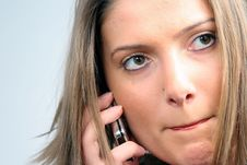 Free Woman On Phone Royalty Free Stock Photo - 4031835