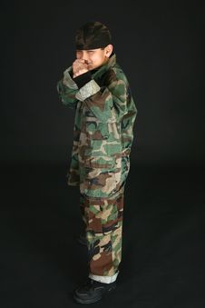 Boy In Camo Stock Image