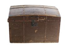 Free Old Vintage Wooden Chest Royalty Free Stock Photo - 4034125