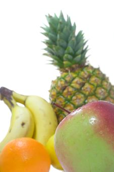 Free Apple On Fruits Background Stock Photo - 4034180