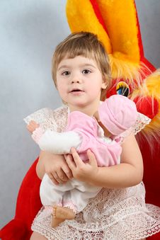 Free Child With Puppet Stock Photos - 4035013