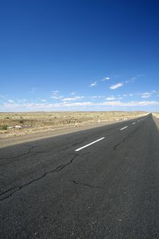 Endless Desert Road Stock Image