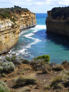 Rugged Coastline, Great Ocean Road Royalty Free Stock Photo