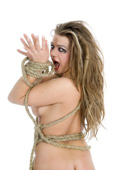 Nude Girl With Rope Stock Photos