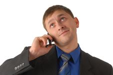 Free Manager Speaks On Telephone Stock Photography - 4036372