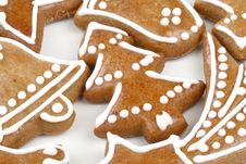 Free Christmas Gingerbread Cookies Royalty Free Stock Photos - 4036478