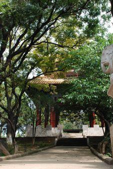 Free Pagoda In Park Royalty Free Stock Photo - 4037005