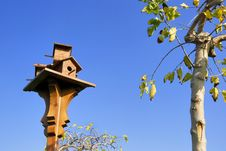 Free A Birdhouse Near A Little Tree Royalty Free Stock Photography - 4037507