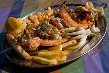 Free Seafood Kebab Stock Photography - 4037582