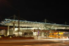 Free Train Station By Night Royalty Free Stock Image - 4038126