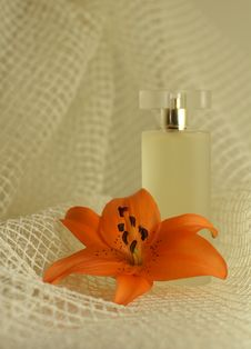 Free Perfume With An Orange Lily Stock Photo - 4038190