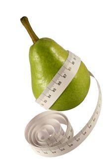 Free Pear With Centimeter Stock Image - 4038221