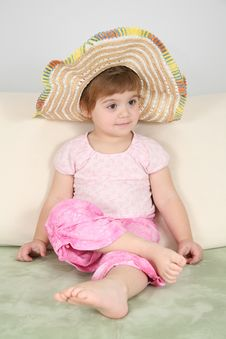 Free Girl In Straw Hat Stock Photos - 4038353