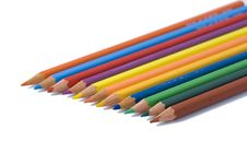 Free Colored Pencils In A Row Royalty Free Stock Image - 4038846
