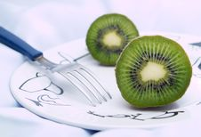 Free Kiwis On A Plate Royalty Free Stock Image - 4039176