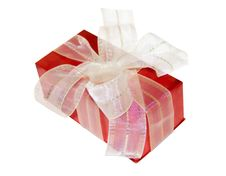 Free Red Gift Box With White Bow,isolated Royalty Free Stock Photo - 4039405