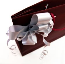 Purple Gift Bag Royalty Free Stock Images