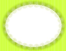 Free Oval Green Decorative Border Or Frame Royalty Free Stock Photos - 4039858