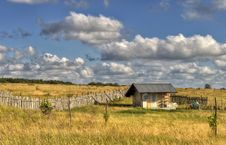 Free Little House In The Field Stock Photography - 40345132