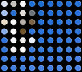 Free Blue Buttons On Black Royalty Free Stock Photography - 4044347