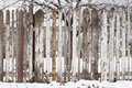 Free Wooden Fence At Winter Stock Image - 4049951
