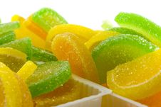 Colourful Fruit Candies Stock Photo