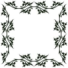 Vintage Floral Frame Royalty Free Stock Photography