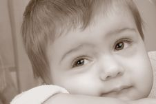 Free The Thoughtful Child Royalty Free Stock Photos - 4040478