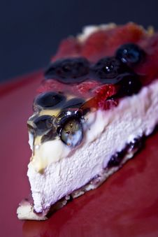 Fruit Cheese Cake Royalty Free Stock Photography