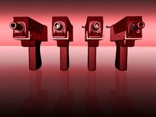 Free Guns 3d Royalty Free Stock Images - 4043419