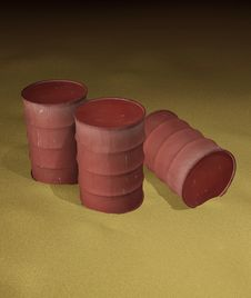 Free Oil Barrels Stock Image - 4043481