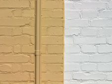Yellow Bricks Wall Stock Photo