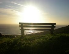 Free Bench In The Sunset Royalty Free Stock Image - 4044056