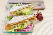 Free Vegetables Sandwich Royalty Free Stock Image - 4044216