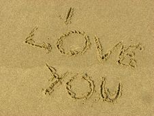 Free Sand Message Stock Photography - 4044352