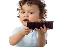 Free Child With Chocolate. Stock Photography - 4044702