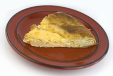 Free Baked Pie Piece With Egg Stock Photography - 4045012