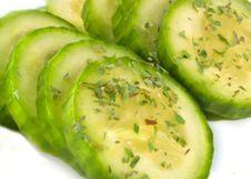 Free Cucumber Slices Stock Image - 4045171