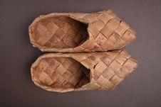 Bast Shoe Stock Photo
